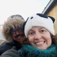 Stacy and Jason of Roguetrippers took a ride on a toboggan during Carnaval de Quebec