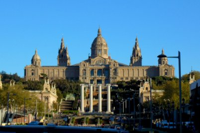 Montjuic castle is a glorious building in Barcelona