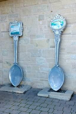 Giant Spoons at the Souvenir City in Niagara Falls Ontario