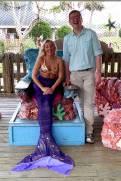 Nick meets a mermaid at the Weeki Wachee Mermaids show