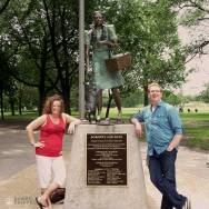 Stacy Milford and Nick Kulnies of Roguetrippers visit Dorothy and Toto in Oz Park Chicago