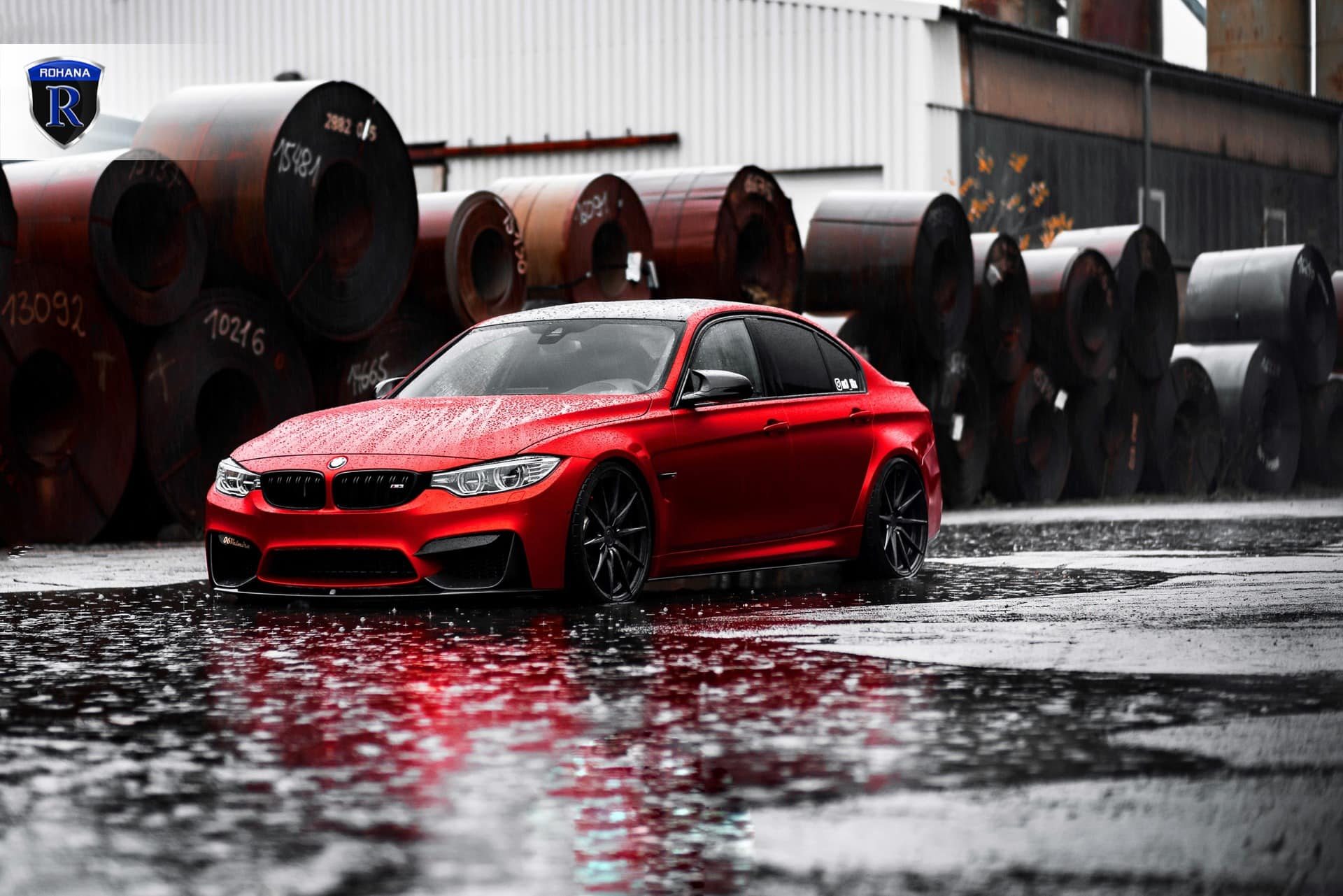 Bmw M3 Rf1 Matte Black Rohana Wheels