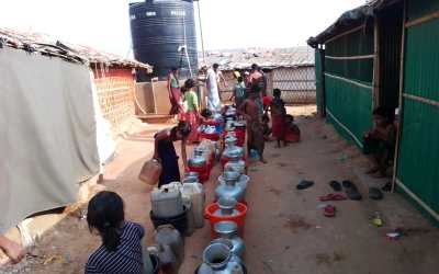 Rainwater harvesting : a temporary water shortage solution in refugee camps