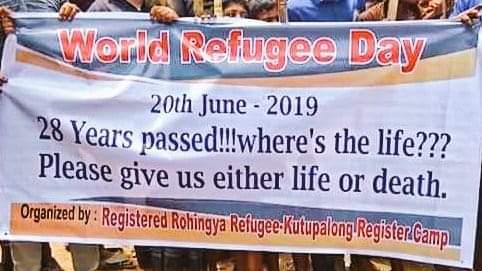 """Celebration of """"World Refugee Day"""" at Rohingya Refugee camps"""