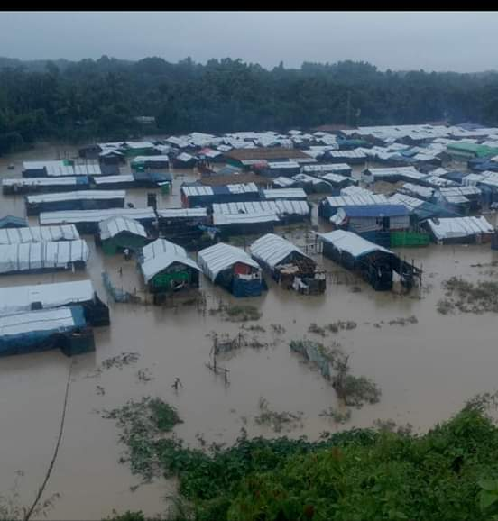 Heavy monsoon rain leaves Rohingya refugees without shelter