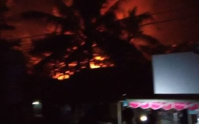 A massive fire broke out in Bumay, Sittwe, Rakhine state