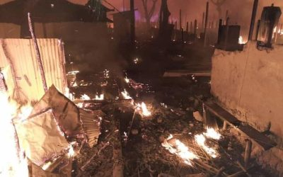 Update: Up to 600 houses burnt at Nayapara Refugee Camp, Teknaf