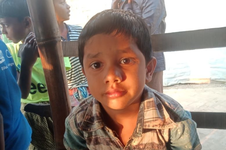 A young child was found in Balukhali camp.