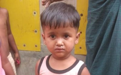 A child was found in Balukhali camp 12, missing