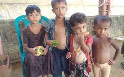 These kids were found in Tankhali camp 13