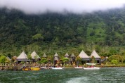 View from the boat.. Villas on the other side of lake,,