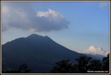 Closeup view of Mt.Batur's Caldera