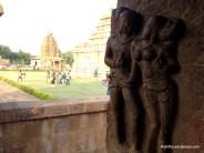 Mithuna(Dampati) or gracious couple sculpture on Virupaksha temple