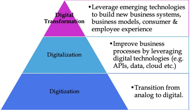 Digital Transformation, Digitization and Digitalization