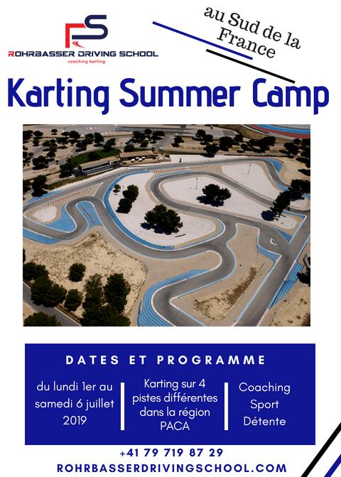 Camps de karting dans le Sud de la France pendant é'été 2019