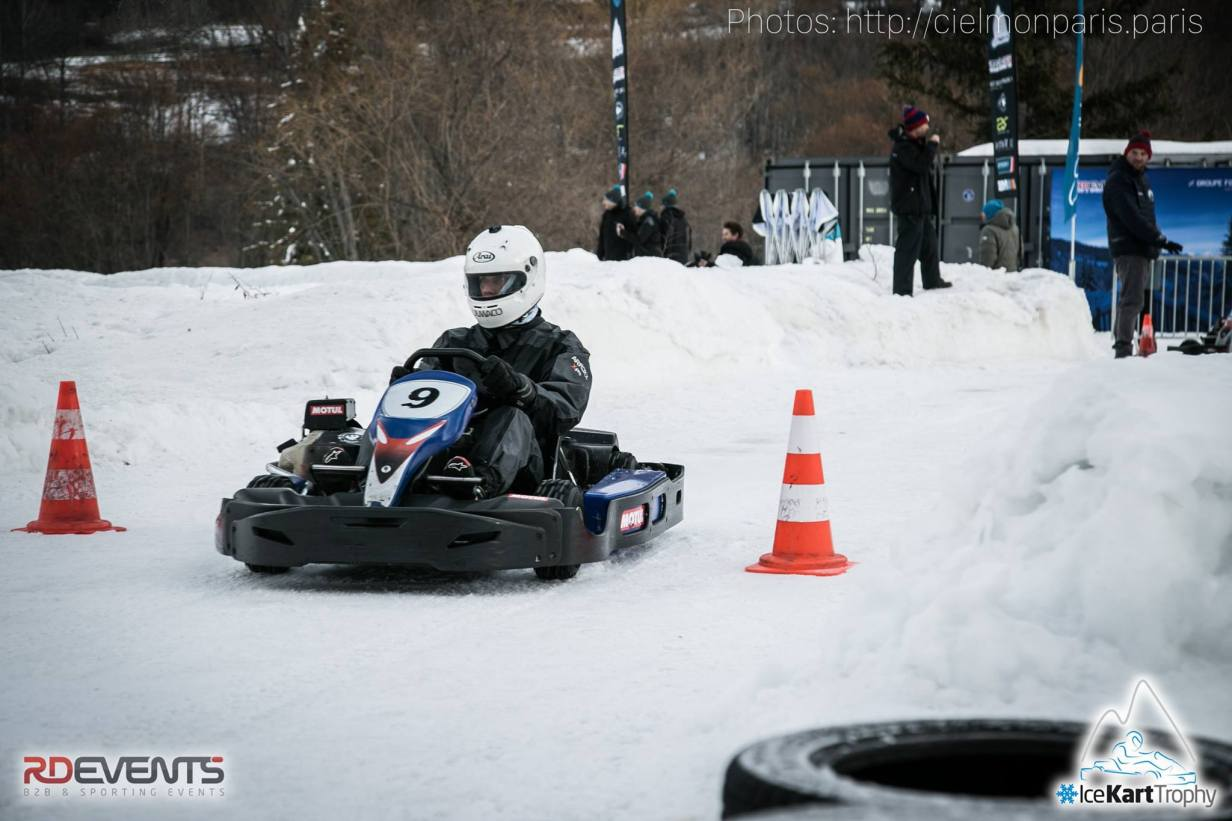 Le pilotage du karting sur neige