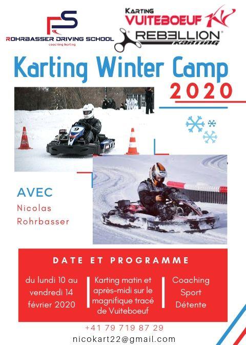 Camp d'hiver de karting