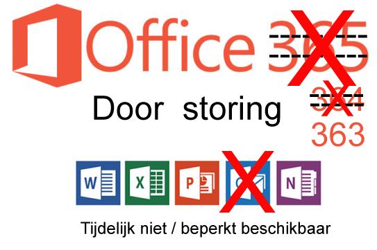 Getroffen door storing bij Microsoft?