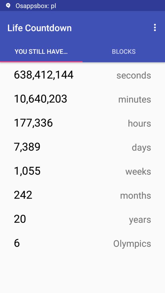 Screenshot of Countdown Death App Apk