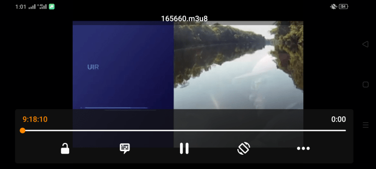 Screenshot of MRZ IPTV App