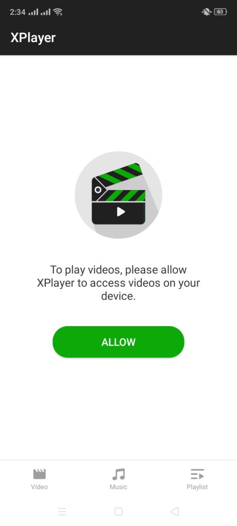 Screenshot of X Video Player all Format