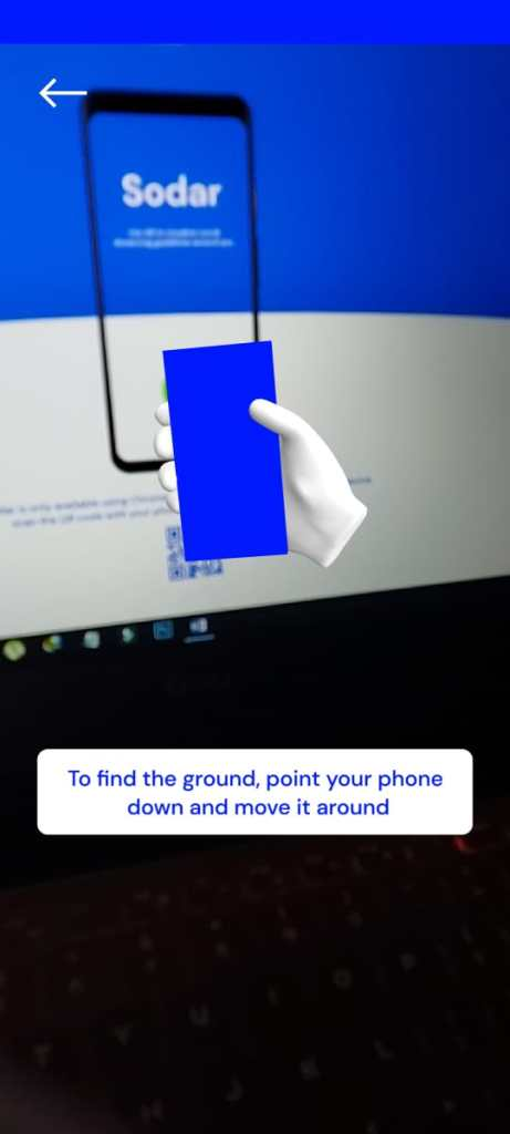 Screenshots of Sodar App