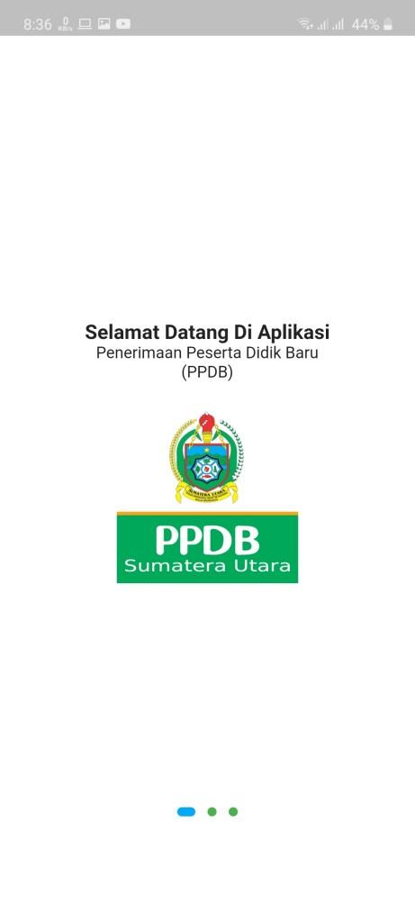 Screenshot of ppdb.disdik.sumutprov.go .id 2020 App