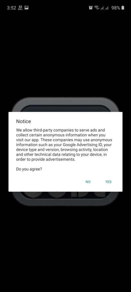Screenshot of Code TV Plus App