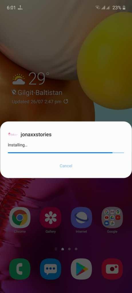 Screenshot of Jonaxx Apk