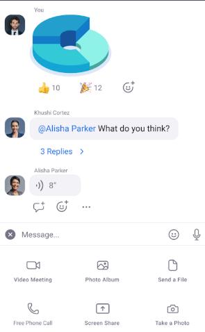Screenshot van Zoom-app vir Jio-telefoon
