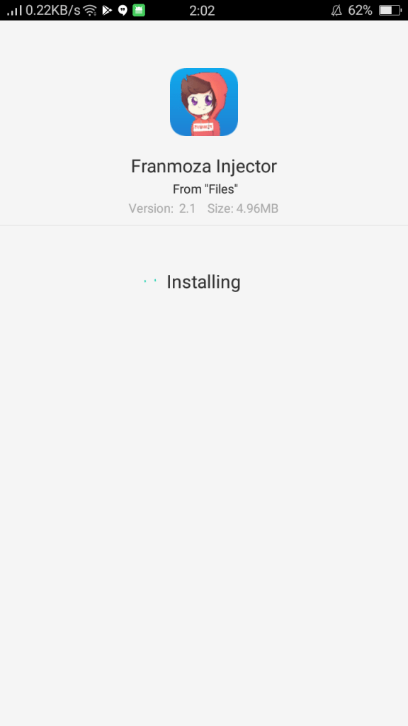Screenshot of FRANMOZA INJECTOR