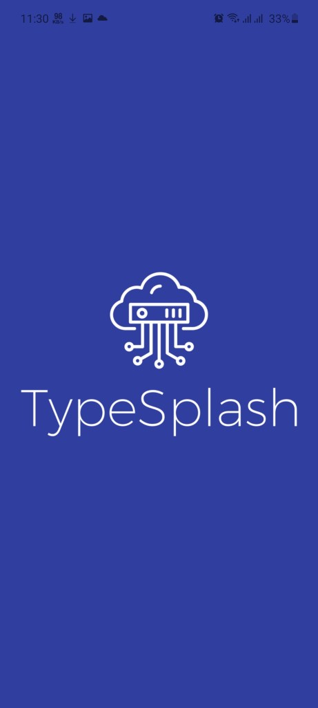 Screenshot of TypeSplash