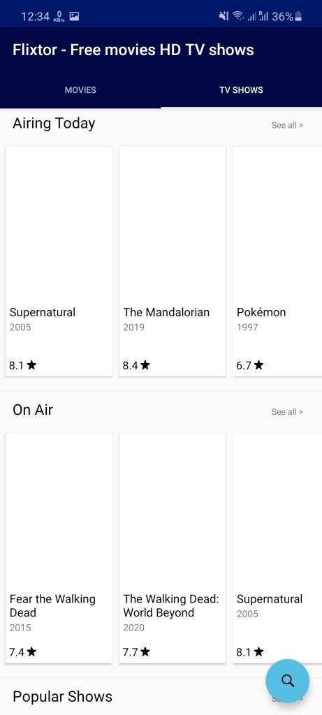 Screenshot of Flixtor.is App