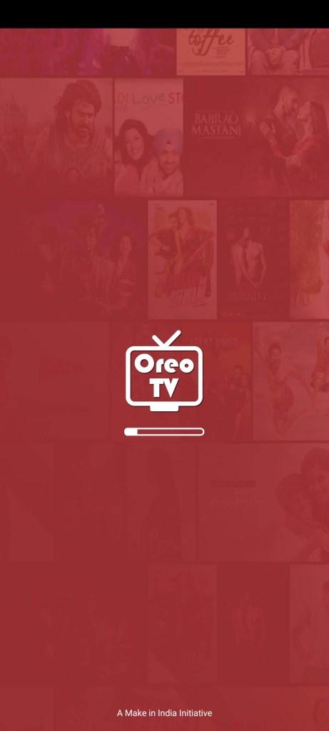 Screenshot of Oreo TV