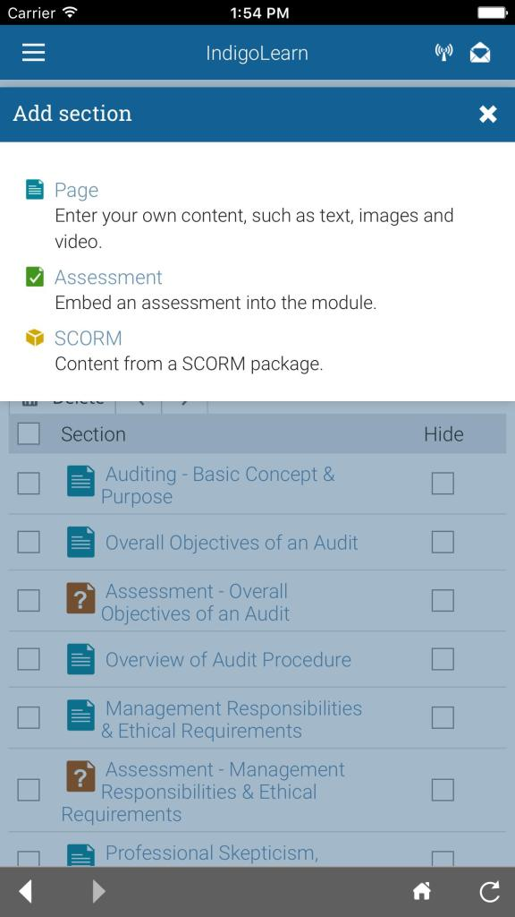 Screenshot of IndigoLearn For Android