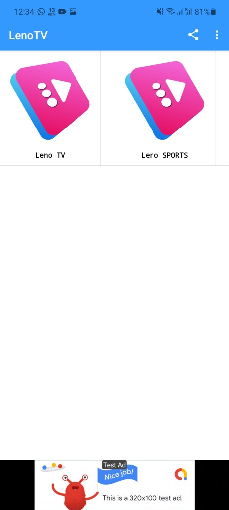 Screenshot of LENO TV Apk
