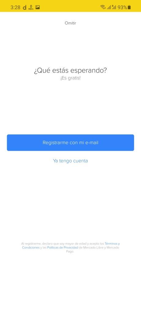 Screenshot of Mercado Libre App