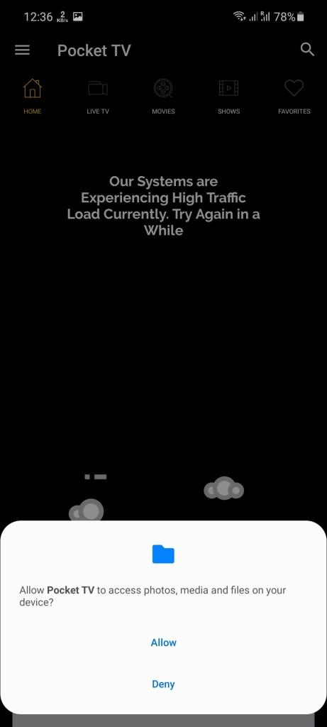 Screenshot of Pocket TV Mod Download