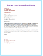 Business Letter Template 2