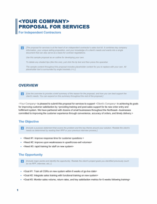 Business Proposal Template 3