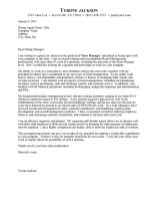 Cover Letter Example 4