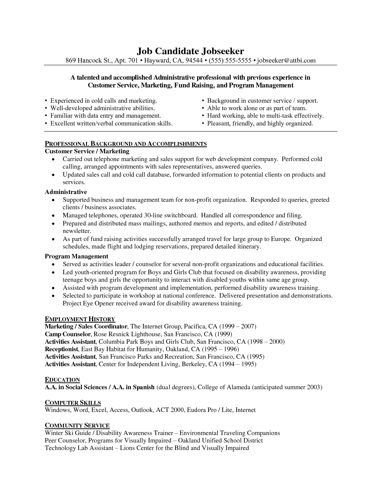 Customer Service Resume Format Roi Investing