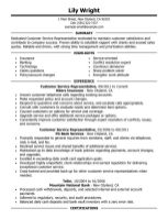 Customer Service Resume Format 9