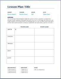 Daily Lesson Plan Template 4