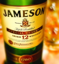 Photo of bottle of jameson whiskey