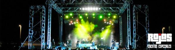 Escenario para conciertos internacionales