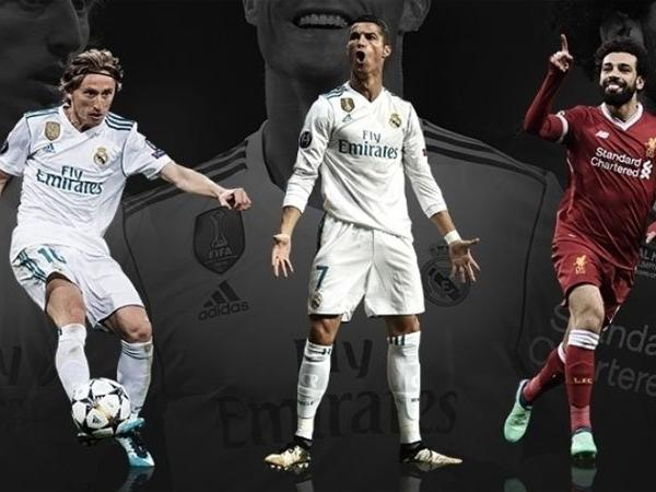 Luka Modrić, Cristiano Ronaldo and Mohamed Salah have been nominated for the 2017/18 UEFA Men's Player of the Year award.