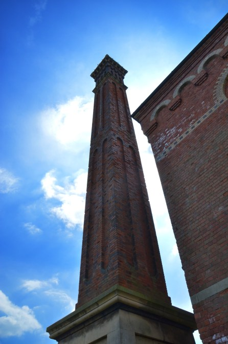 Pumping station chimney