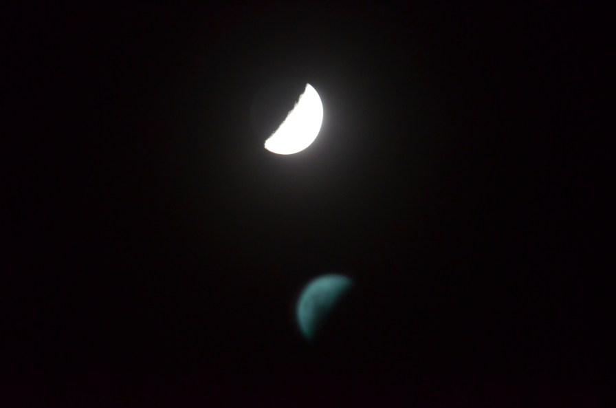 Moon and camera artifact