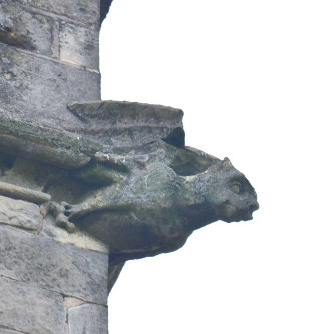 Grotesque on Shireoaks church